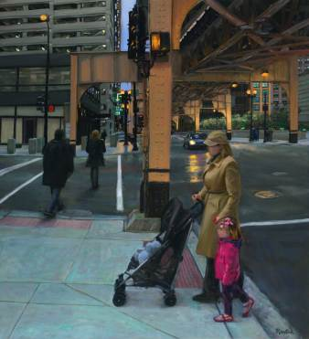 Under the El Tracks, 66 X 60