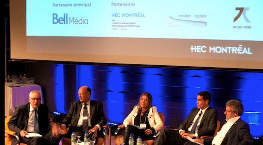 Parmi les participants à la conférence, Rémy Pflimlin, président de France Télévisions; Marie-Christine Saragosse, présidente de France24 et RFI; Mathieu Gallet, président de Radio France. (Photo: Sylvain Beletre, Balancing Act)