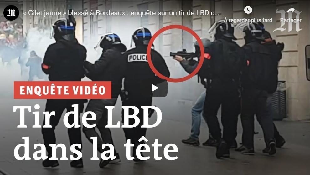 LeMonde.fr se lance dans l'investigation vidéo avec la reconstitution d'un tir de LBD contre un «gilet jaune»