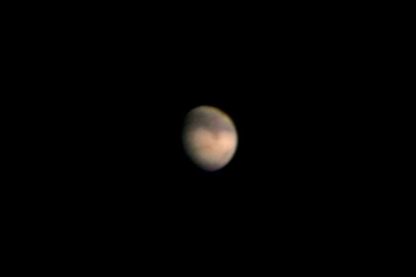 """Mars - 9/05/2005 A, Celestron 11"""" SCT f/25Losmandy, G11 Mount & Phillips ToUcam"""