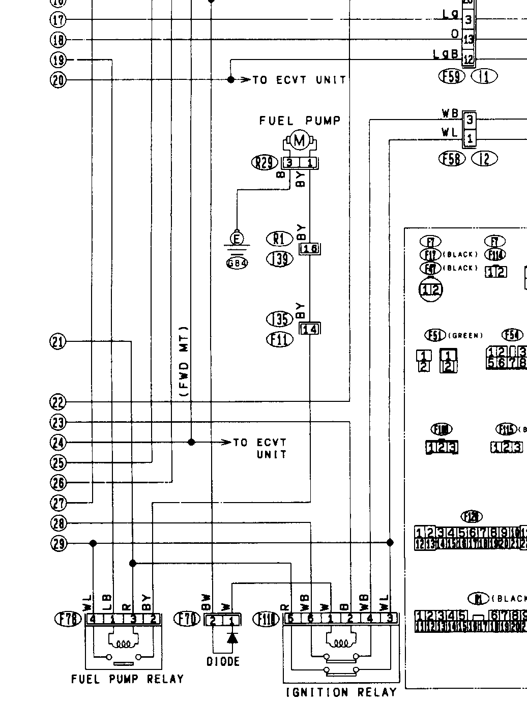 hight resolution of click to see a full size view here is the partial wiring diagram of the subaru s