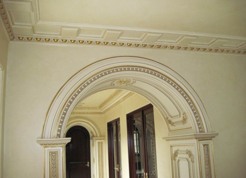 kitchen ceilings remodeling ideas for kitchens columns and archs - sam's interior finish