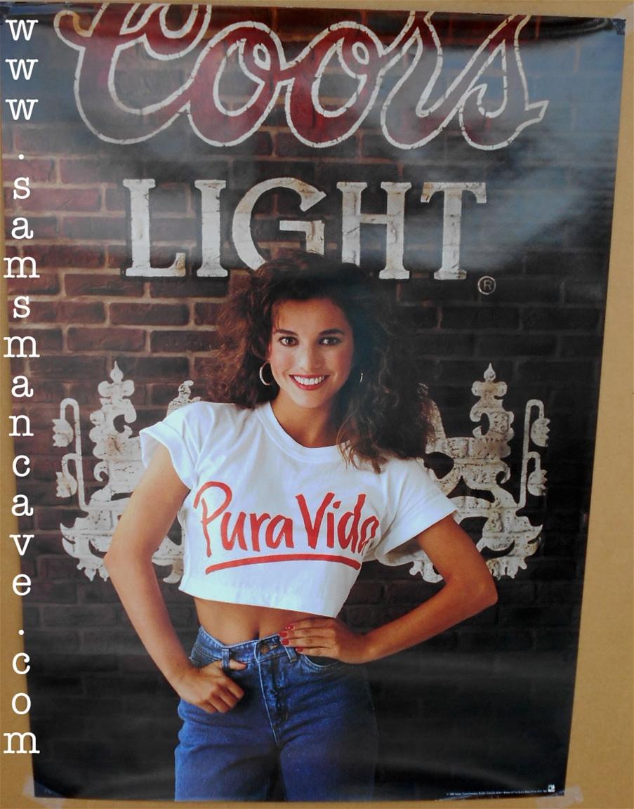 coors light pura vida beer poster