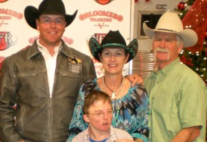 Burt family with Jade Corkill 2011 NFR
