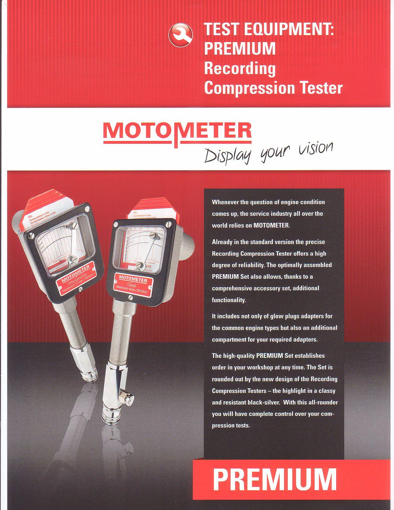 hight resolution of motometer premium compression tester sets