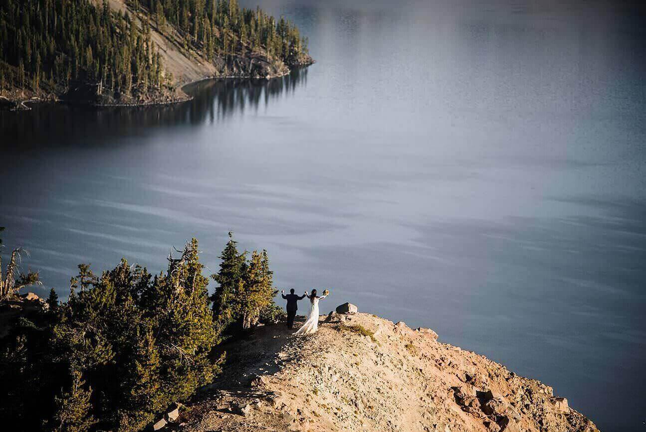 Adventure Elopement Photographer, Crater-Lake-National-Park-Adventure-Elopement-Oregon