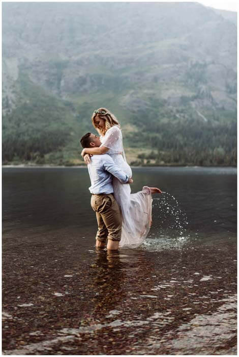Glacier National Park Elopement Photographer, adventure elopement photographer