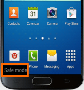 enable samsung safe mode