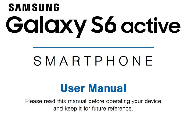 Samsung Galaxy S6 Active User Manual