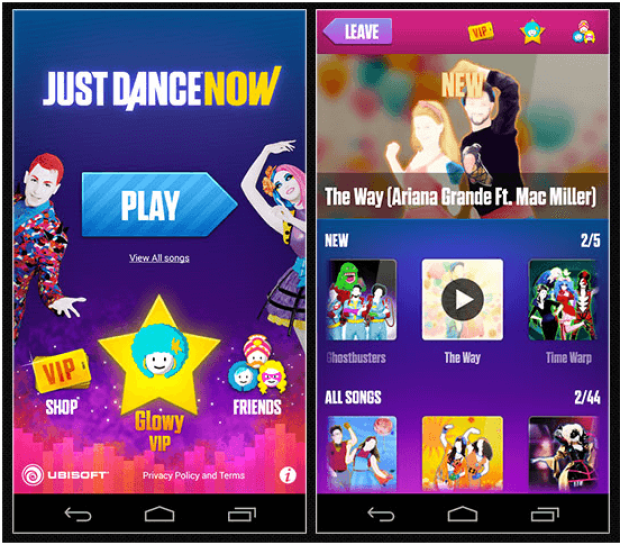 Just Dance Now game app for Android mobile
