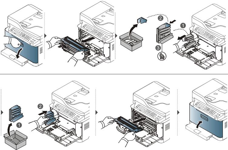 Remplacement du récupérateur de toner usagé
