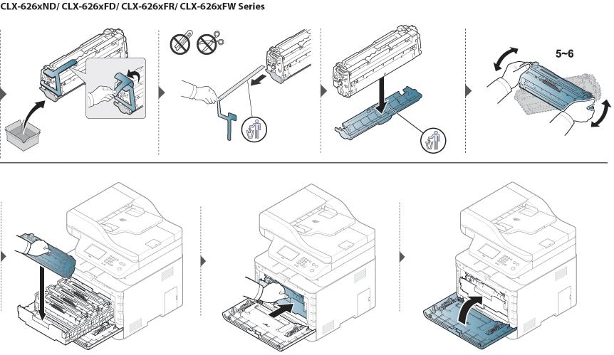 Replacing the toner cartridge
