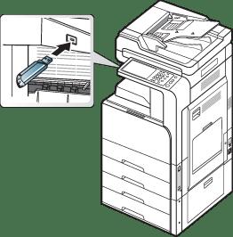 Brug af en USB-hukommelsesenhed