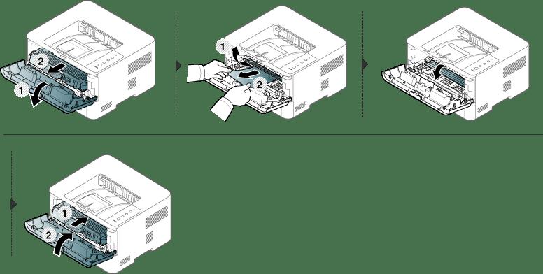Beseitigen von Papierstaus