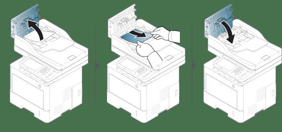 Eliminando obstruções de papel