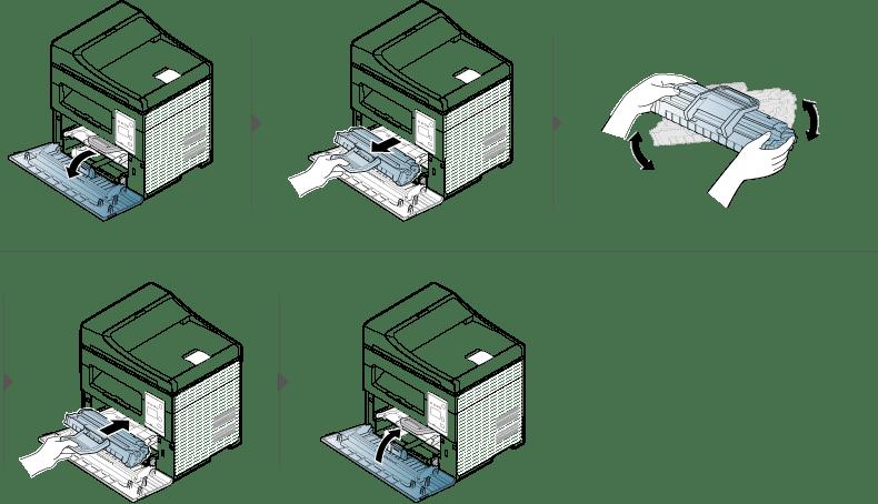 إعادة توزيع مسحوق الحبر