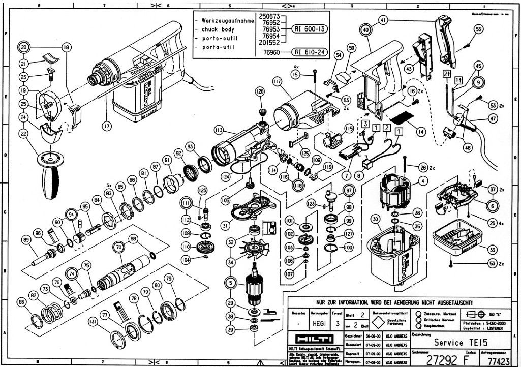 Hilti Dd 130 Parts Breakdown. Wiring. Wiring Diagram Images