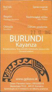 Burundi Kayanza od Green Plantation