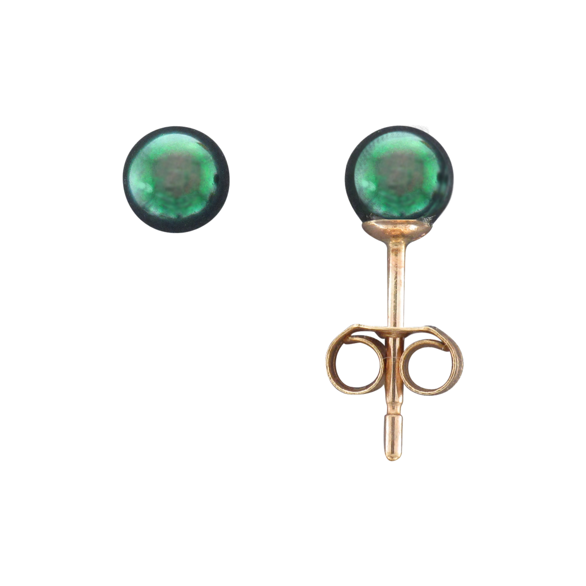 9CTY 4MM BLACK AKOYA PEARL STUD EARRING