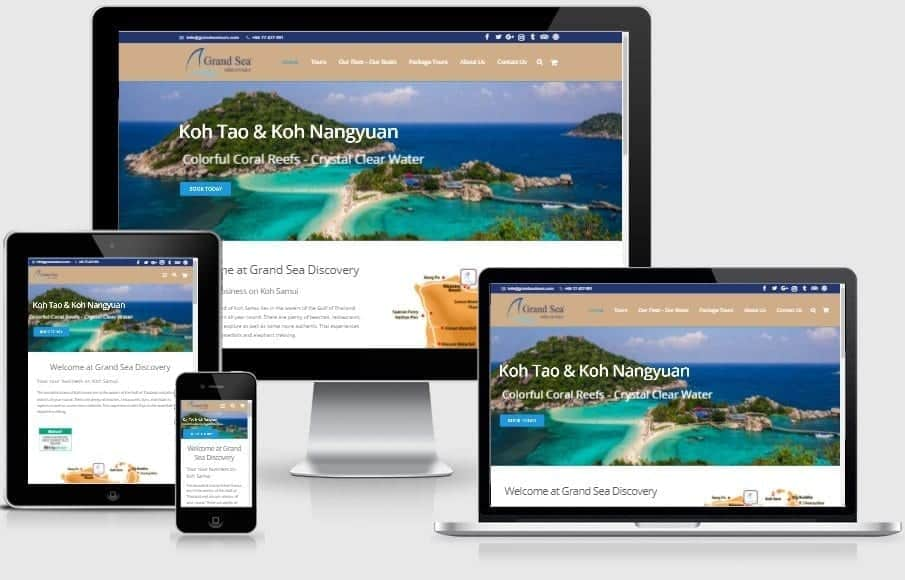 New created website for Grand Sea Discovery