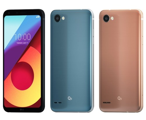 LG Q6 Big Screen in One Hand