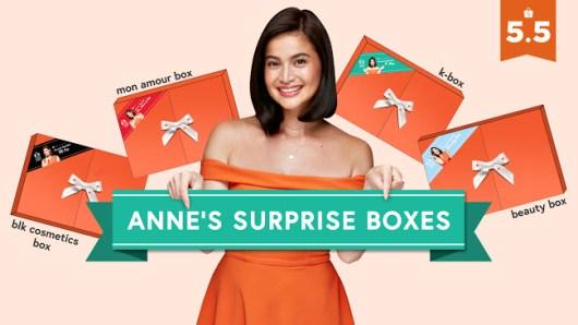 5.5 Shopee Super Sale Anne Curtis Surprise Boxes