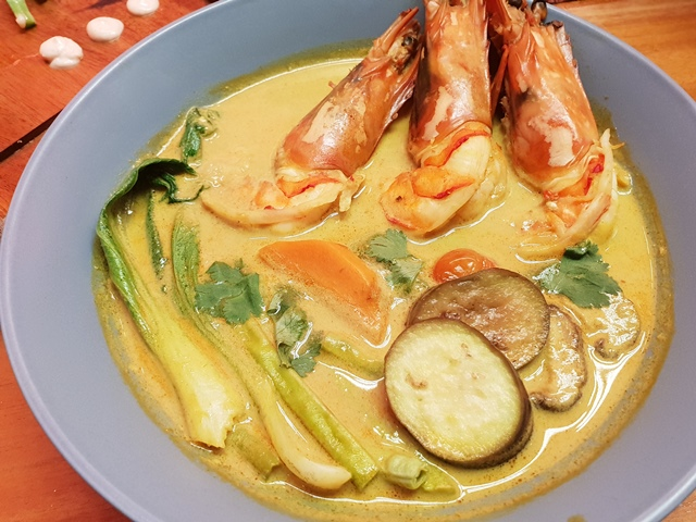 Akrotiri Modern Eurasian Cuisine Prawn Tom Yum and Curry Soup