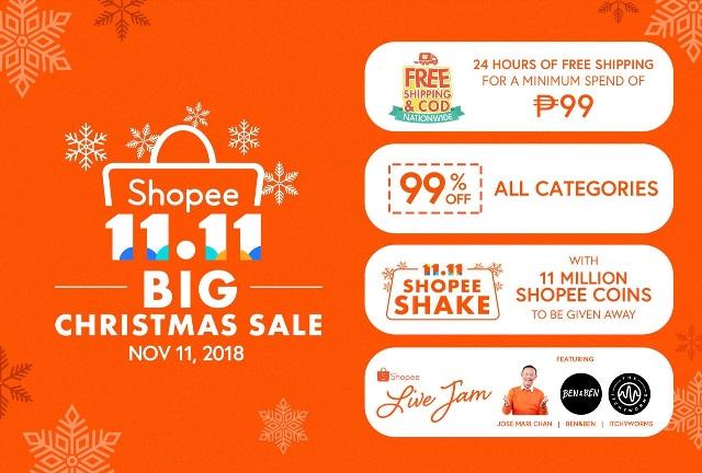 Shopee Philippines Facebook Live Jam on 11.11 Bg Christmas Sale