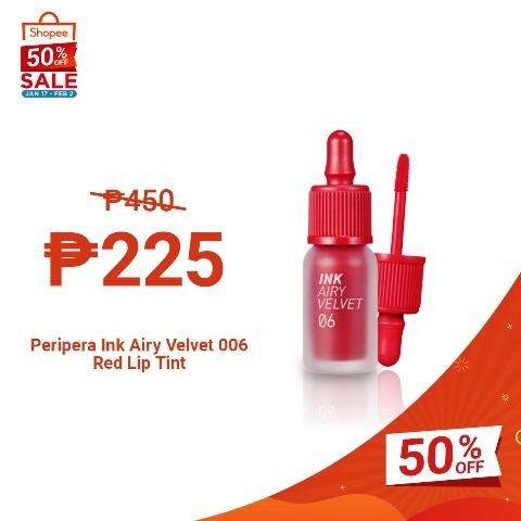 Shopee 2.2 Sale Peripera Ink Airy Velvet Lip Tint