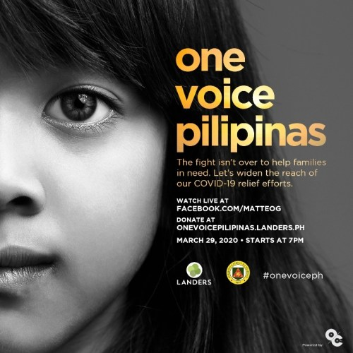 Landers Donate to One Voice Pilipinas
