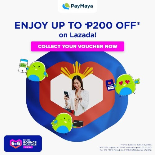 PayMaya Lazada 6.6 Bounce Back Sale