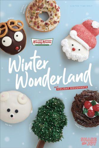 Krispy Kreme Winter Wonderland Holiday Doughnuts