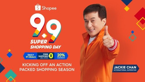 Shopee 9.9 Super Shopping Day Jackie Chan