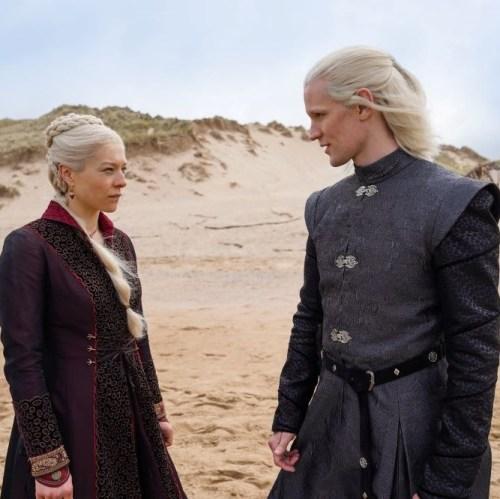 HBO GO House Of The Dragon - Emma D'Arcy and Matt Smith