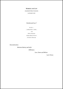 Derrida & Law - notes--