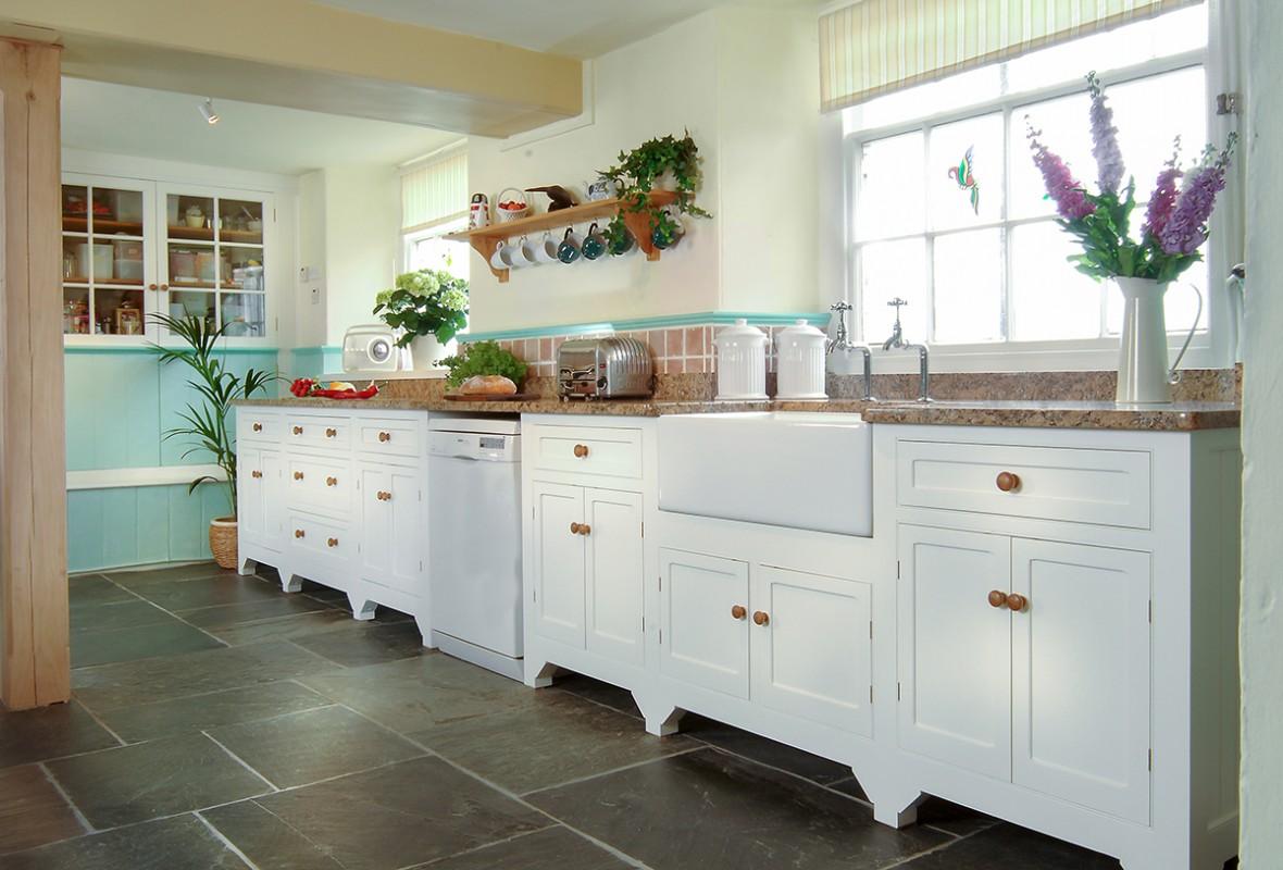 Free standing kitchen painted kitchen Devon  Samuel F