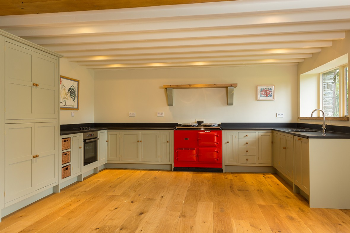 Shaker Style Kitchen Converted Mill Cornwall Bespoke Kitchens Cornwall Samuel F Walsh