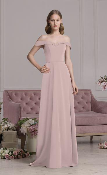 Abendkleid altrosa in ALinie  Samyra Fashion