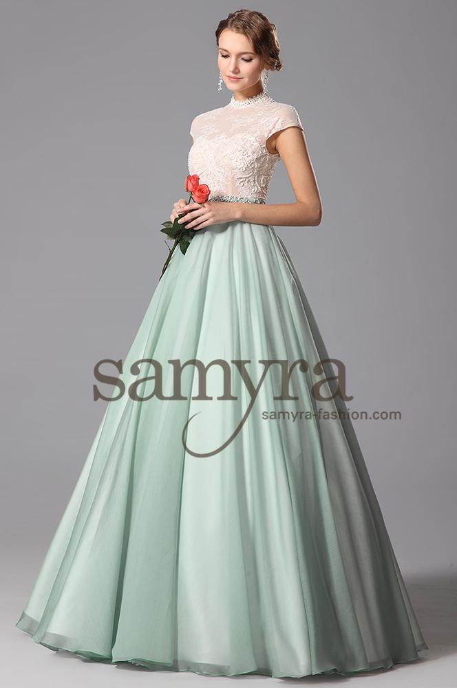 BallkleidBrautkleid mit Stehkragen  Samyra Fashion