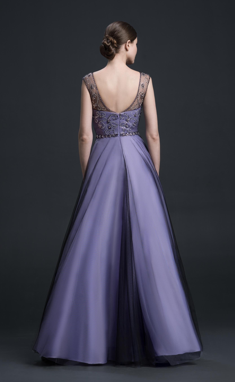 Traumhaftes Ballkleid violettschwarz  Samyra Fashion