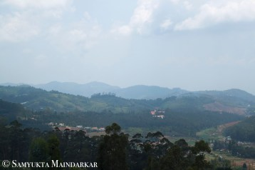 View on way to Coonoor, the closest large town to Ooty and a hill station in itself. Coonoor is also the centre of tea production in the Nilgiris, and is surrounded by several tea estates