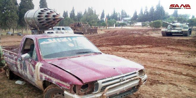 Ar-Rastan, Homs és Hama tartományok között a terroristák továbbra is átadják fegyvereiket, mielőtt Szíria északi részére küldik őket