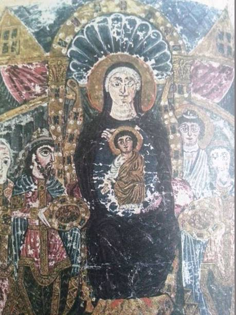 İncilin sonuna ekli 'Müneccimlerin Secdesi'. 6. yy sonu 7. yy başı, Etchmiadzin İncili.