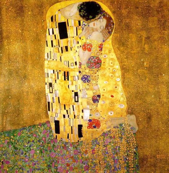 "Klimt; ""The Kiss, 1907-1908"""