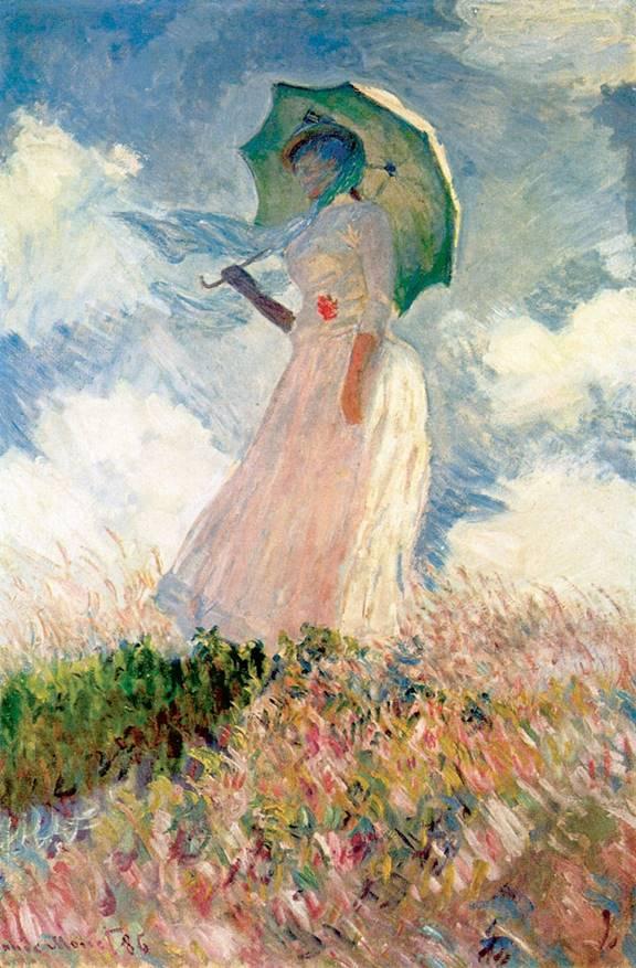 Cladue Monet-Şemsiyeli Kadın(1886)