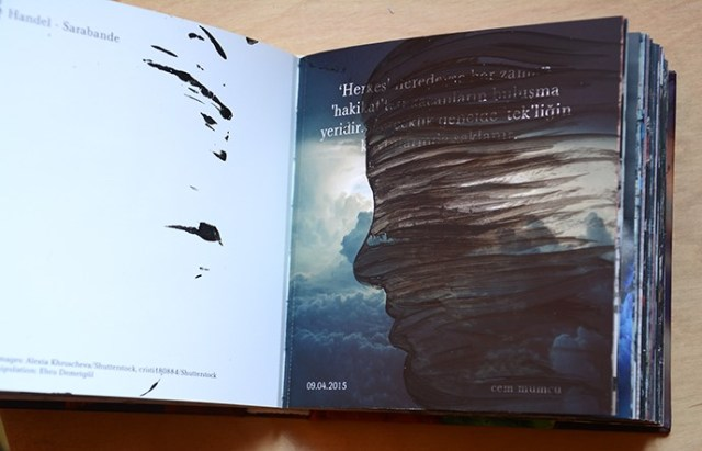 Faruk Kutlu- Dönüştürülen Cem Mumcu kitabı (13x14cm-116 resim)