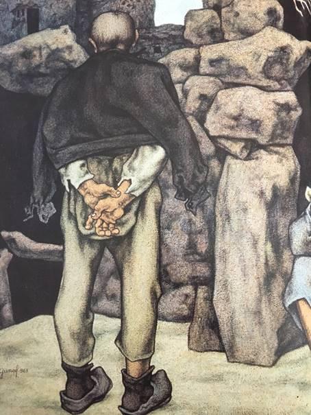 Resim 12: Neşet Günal, Bunalım(ayrıntı), tuval yağlıboya, 145x178cm