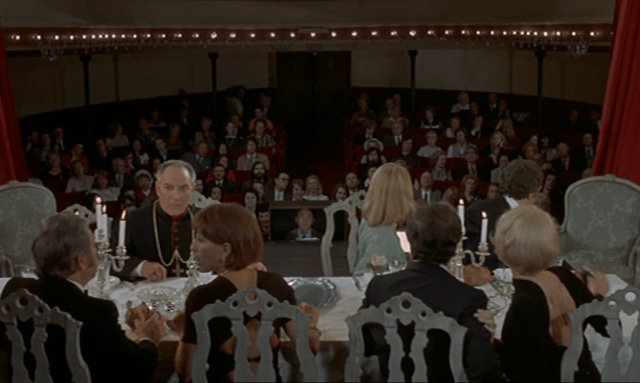 The Discreet Charm of the Bourgeoisie, 1972 is crowded with ambiguity from the very beginning with internal drama from characters (Kinder, 1999).