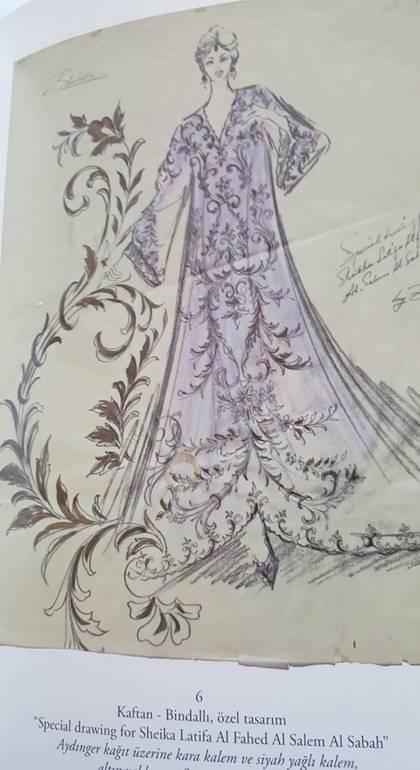 Zuhal Yorgancıoğlu tasarımı bir kaftan