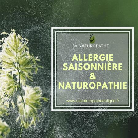 allergie saisonnière et naturopathie